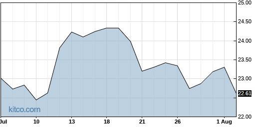 ACIW 1-Month Chart