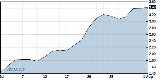 BIMI 1-Month Chart