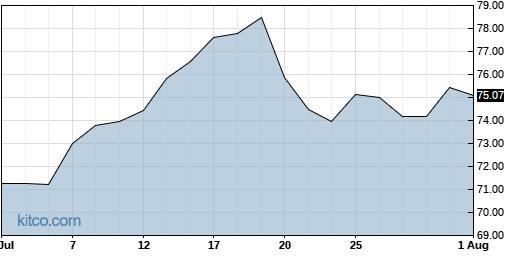 BLKB 1-Month Chart
