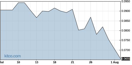 CANN 1-Month Chart