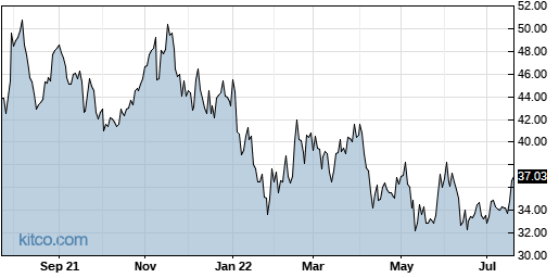 CEVA 1-Year Chart