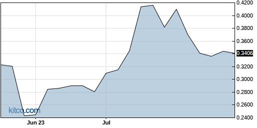 DGNOF 3-Month Chart