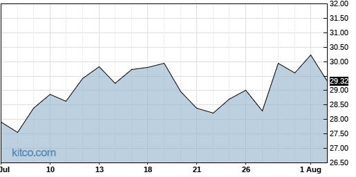 DMRC 1-Month Chart