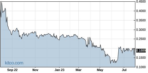 ENZN 1-Year Chart
