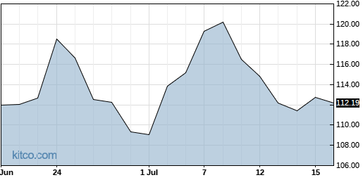 GOOG 1-Month Chart