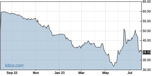 IRBT 1-Year Chart