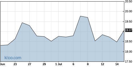 NTGR 1-Month Chart