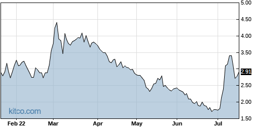 ONVO 6-Month Chart