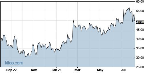 PEGA 1-Year Chart