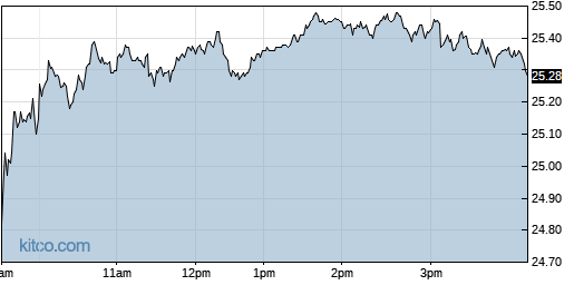 RMBS 1-Day Chart