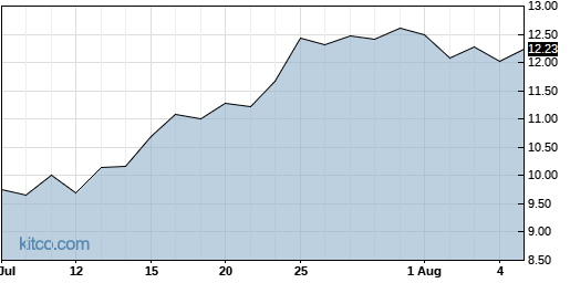SJT 1-Month Chart