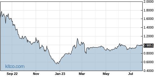 SNCR 1-Year Chart