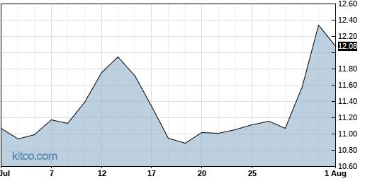 SOHU 1-Month Chart