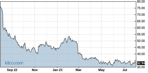 TTEC 1-Year Chart
